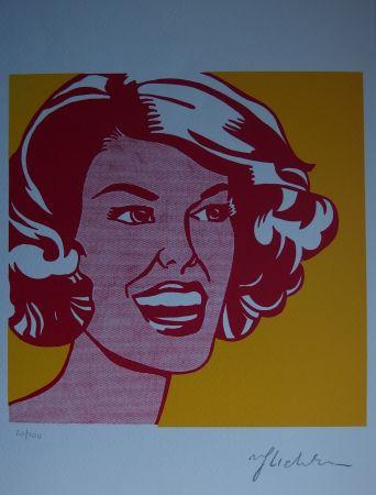 Siebdruck Lichtenstein - Girl