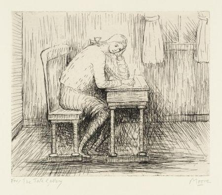 Stich Moore - Girl Doing Homework I