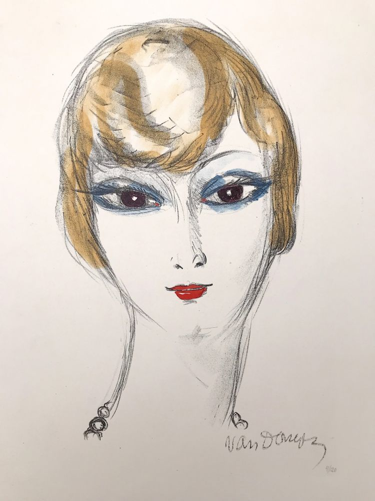 Lithographie Van Dongen - Girl with blond hair