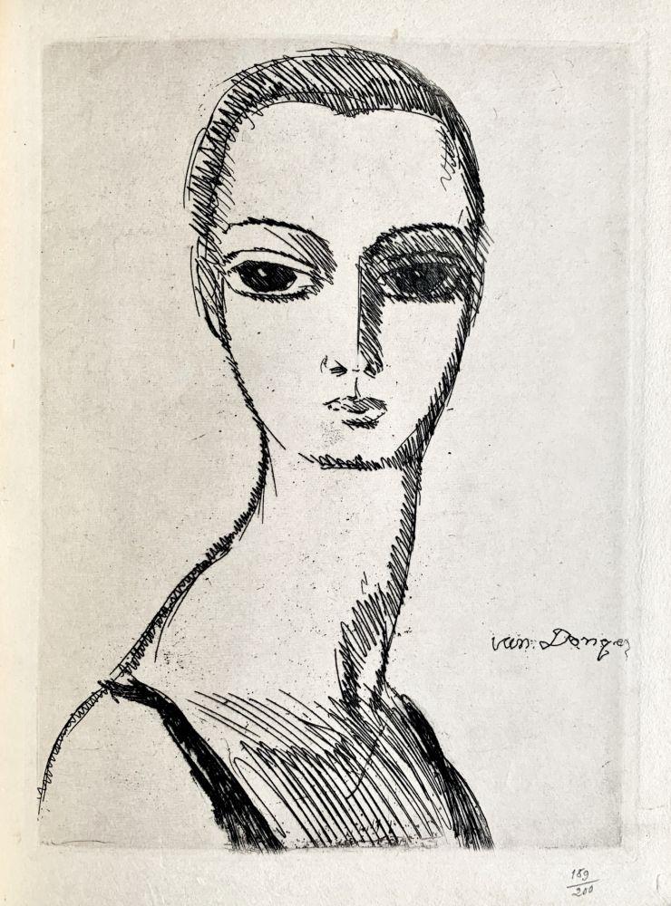 Stich Van Dongen - Girl with swans neck
