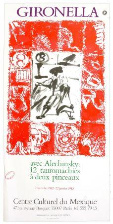 Plakat Alechinsky - Gironella avec Alechinsky, 1982