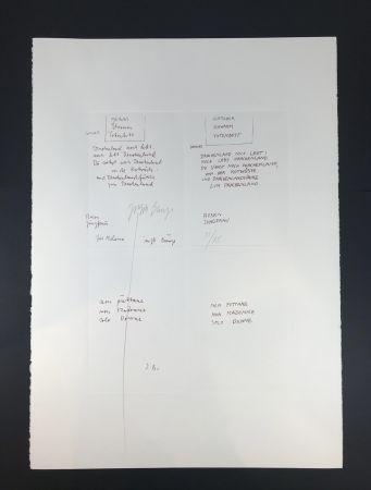 Multiple Beuys - GLETCHER SCHWAMM TOTENBETT