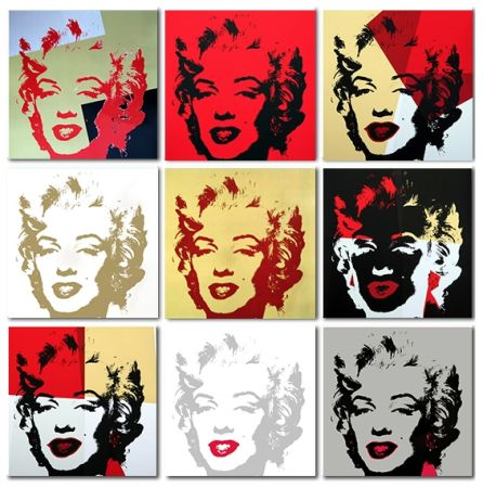 Siebdruck Warhol (After) - Golden Marilyn Monroe collection a set of 10