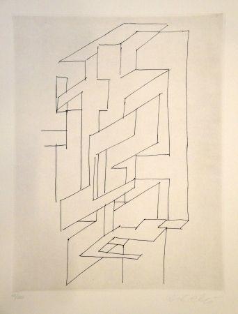 Stich Vasarely - Gordes gestalt