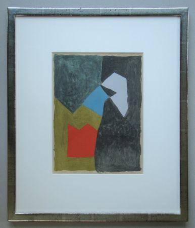 Pochoir Poliakoff - Gouache - 1955