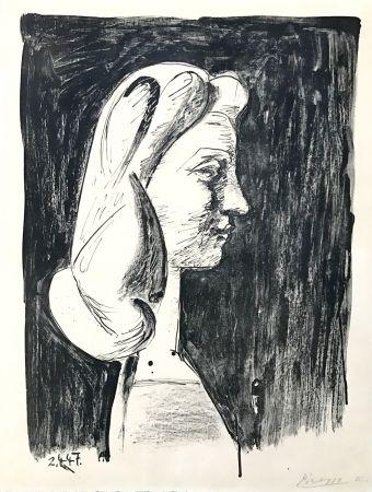 Lithographie Picasso - Grand Profil  (Francoise Gilot)