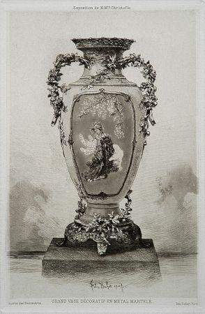 Radierung Und Aquatinta Buhot - Grande vase décoratif