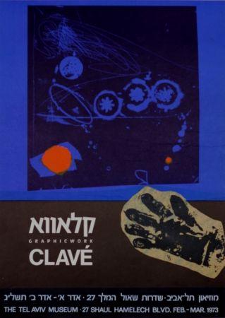 Plakat Clavé - Graphic Work MuseeTel Aviv 1973