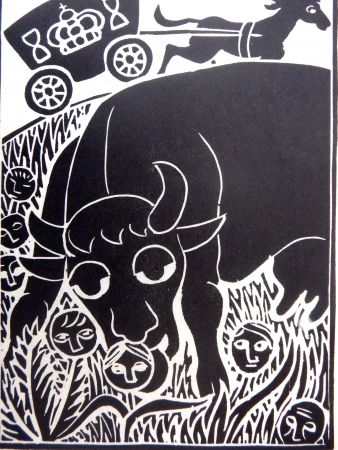 Linolschnitt Heerup - Grass II