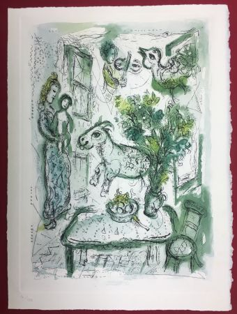 Radierung Und Aquatinta Chagall - Gravure originale en couleur pour Life and Work (F. Meyer 1961)
