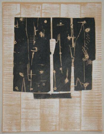 Holzschnitt Consagra - Gravure sur bois pour XXe Siècle