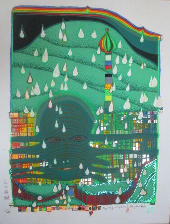 Siebdruck Hundertwasser - Green Power