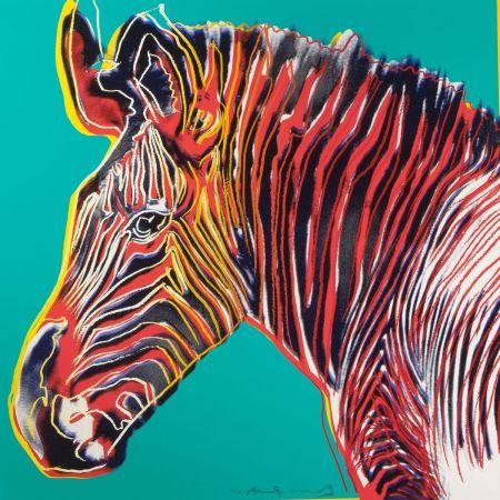 Siebdruck Warhol - Grevys Zebra (FS II.300)