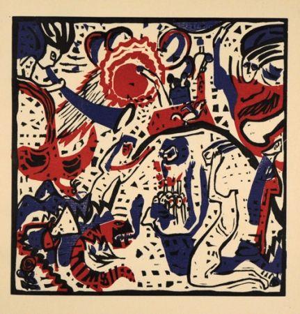 Holzschnitt Kandinsky - Grosse Auferstehung