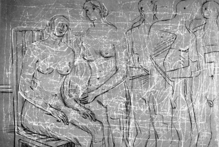Lithographie Moore - Group of figures