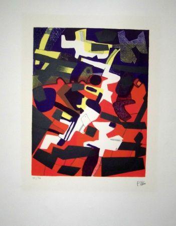 Lithographie Esteve - Groupuscule