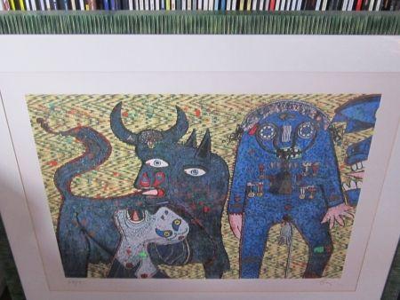 Siebdruck Baj - Guernica
