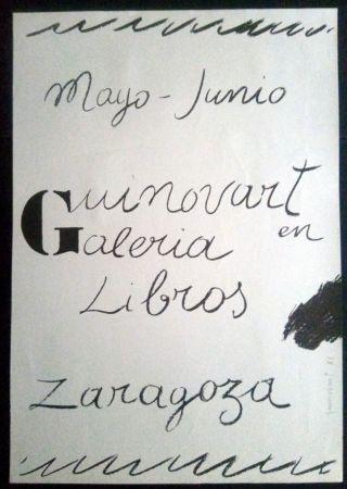 Plakat Guinovart - Guinovart en la Galeria libros - Zaragoza - 1972