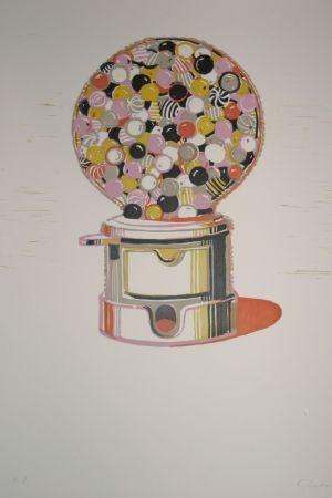 Linolschnitt Thiebaud - Gumball Machine