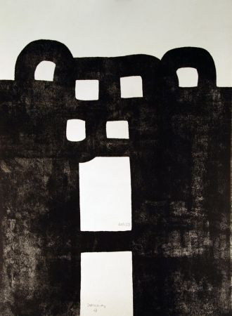 Lithographie Chillida - Gurutze Gorria