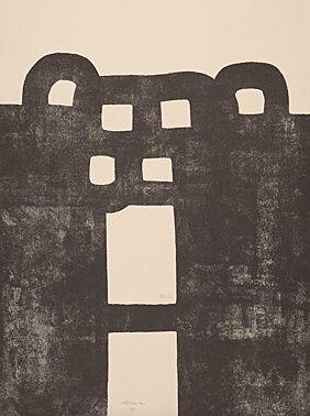 Lithographie Chillida - Gurutze Gorria I
