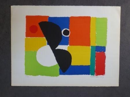 Lithographie Delaunay - Hélice noire