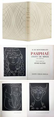 Illustriertes Buch Matisse - H. de Montherlant: PASIPHAE. Chant de Minos. (Les Crétois) Gravures originales d'Henri Matisse (1944).