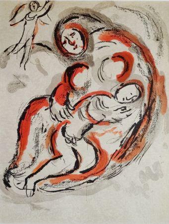 Lithographie Chagall - Hagar dans le désert