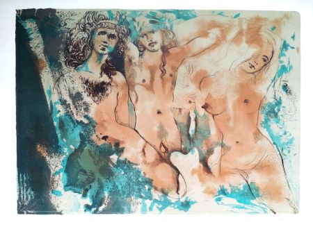 Lithographie Dali - Happy Days (3 Hippies)