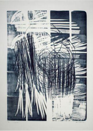 Keine Technische Hartung - Hartung Hans (1904-1989)  L-16B-1974  Lithographie en noir
