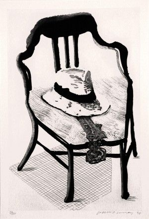 Radierung Und Aquatinta Hockney - Hat On Chair, From Geldzahler Portfolio