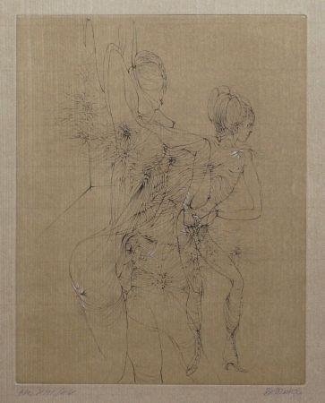 Kaltnadelradierung Bellmer - Hermaphrodite