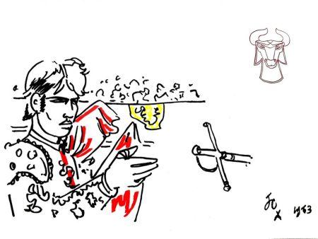 Lithographie Cocteau - Hero