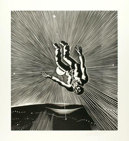Holzschnitt Mattheuer - Hin Ist Er (The Fall Of Icarus)