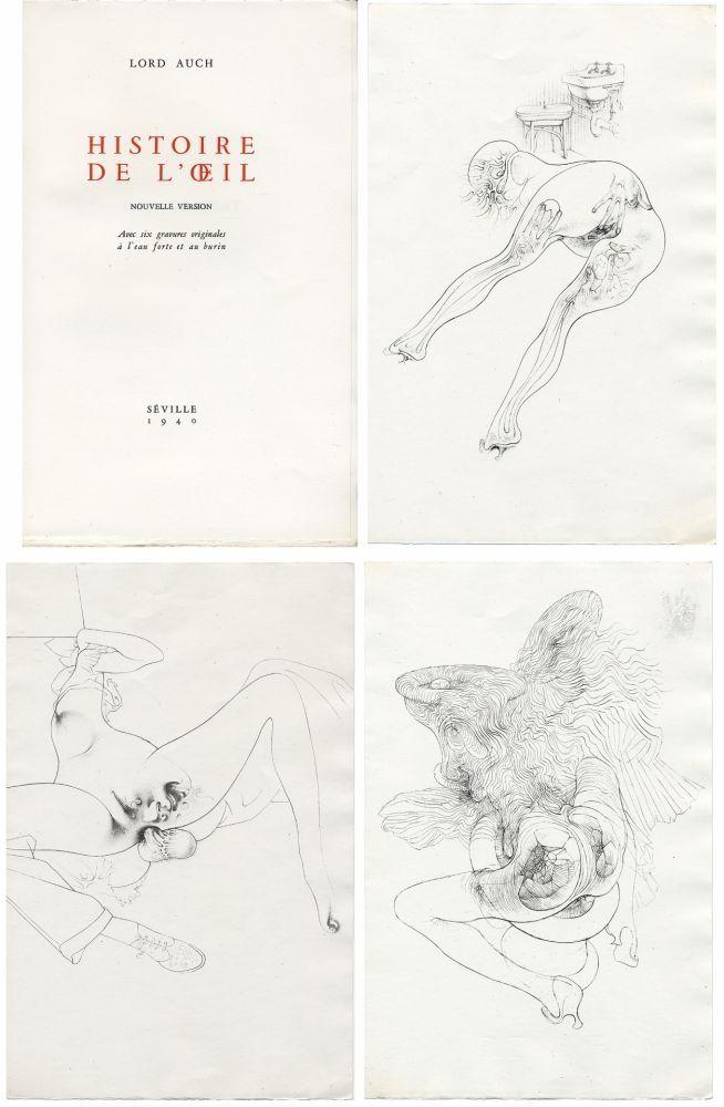 Illustriertes Buch Bellmer - HISTOIRE DE L'OEIL. Nouvelle version. Avec six gravures originales à l'eau-forte et au burin.