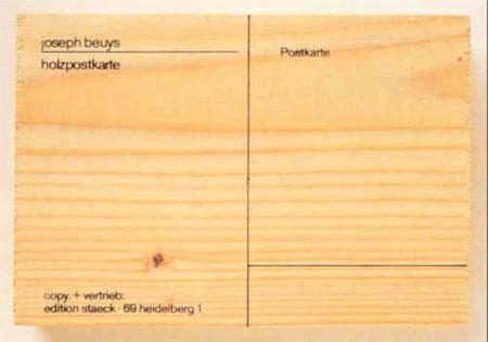 Siebdruck Beuys - Holzpostkarte