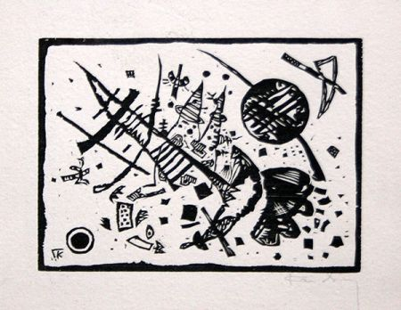 Holzschnitt Kandinsky - Holzschnitt für die Ganymed-Mappe (from Der Dritten Ganymed-Mappe)