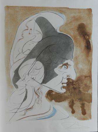 Stich Dali - Homage a Leonardo Condottiere