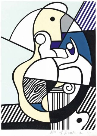Siebdruck Lichtenstein - Homage To Max Ernst