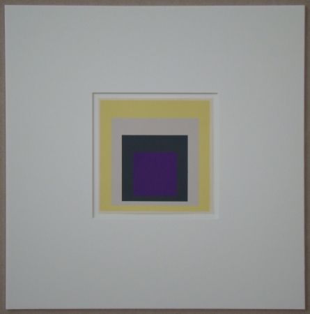 Siebdruck Albers - Homage to the Square - Dedicated