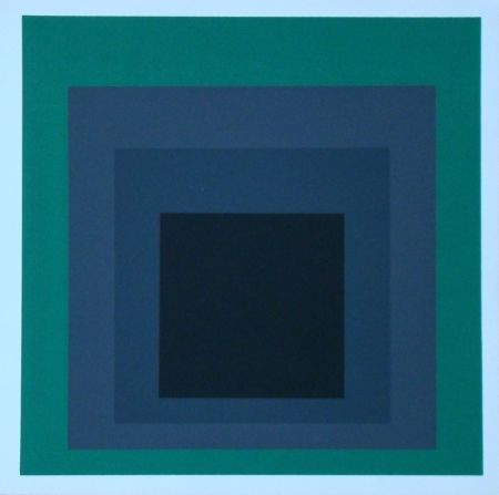 Siebdruck Albers - Homage to the Square - Grisaille and Patina, 1965