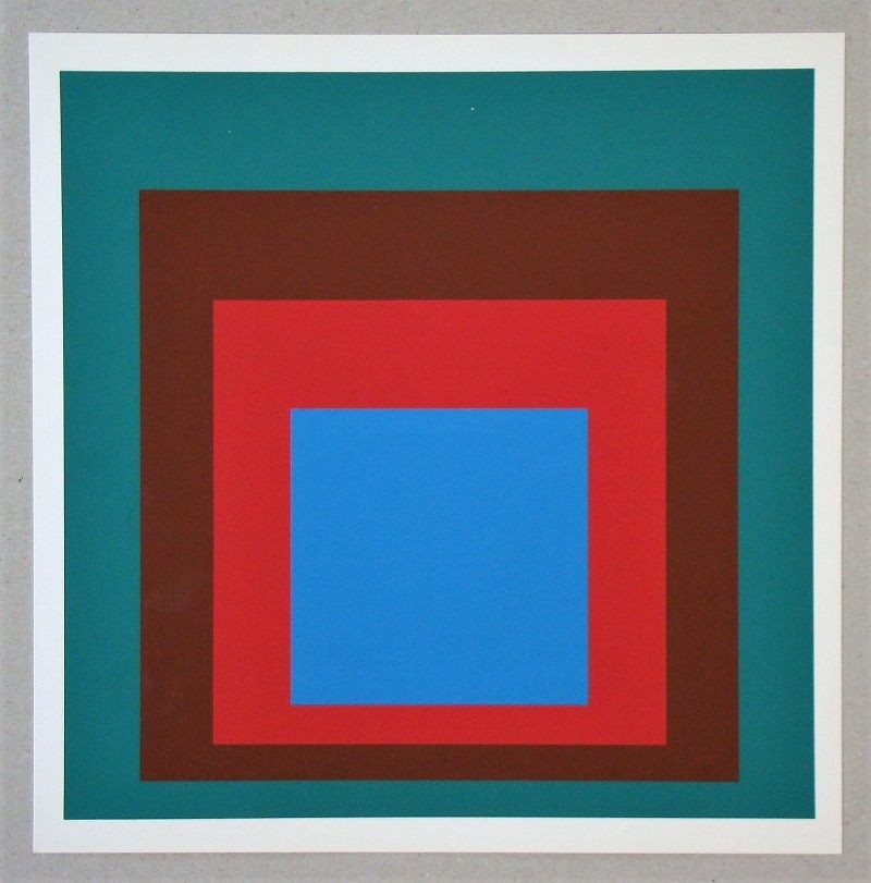 Siebdruck Albers - Homage to the Square - Protected Blue - 1957