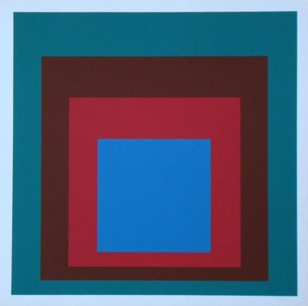 Siebdruck Albers - Homage to the Square - Protected Blue, 1957