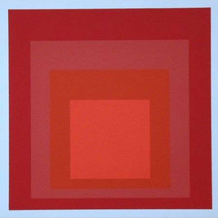 Siebdruck Albers - Homage to the Square - R-III a-4, 1968