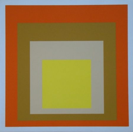 Siebdruck Albers - Homage To The Square - Yes Sir, 1955