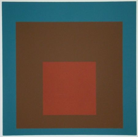 Siebdruck Albers - Homage to the Square at night, 1958