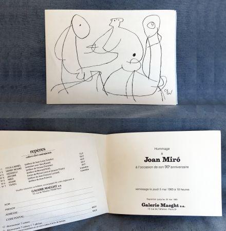 Keine Technische Miró - HOMMAGE À JOAN MIRO à l'occasion de son 90e anniversaire (1983)
