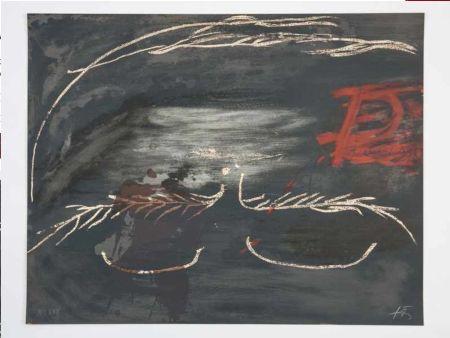 Lithographie Tàpies - Hommage à Picasso
