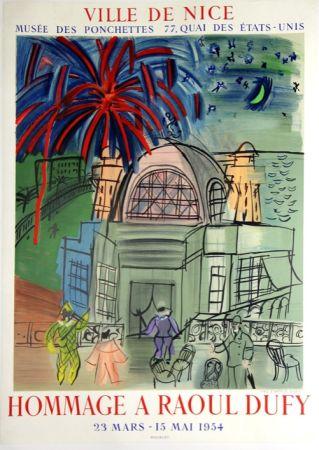 Lithographie Dufy - Hommage à Raoul Dufy  Ville de Nice