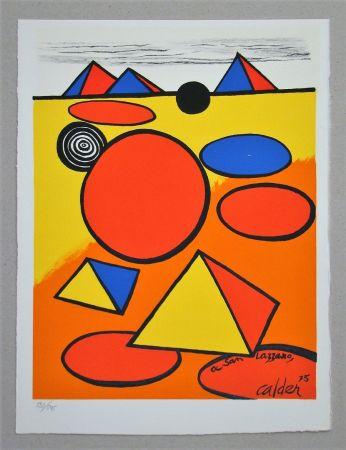 Lithographie Calder - Hommage à San Lazzaro
